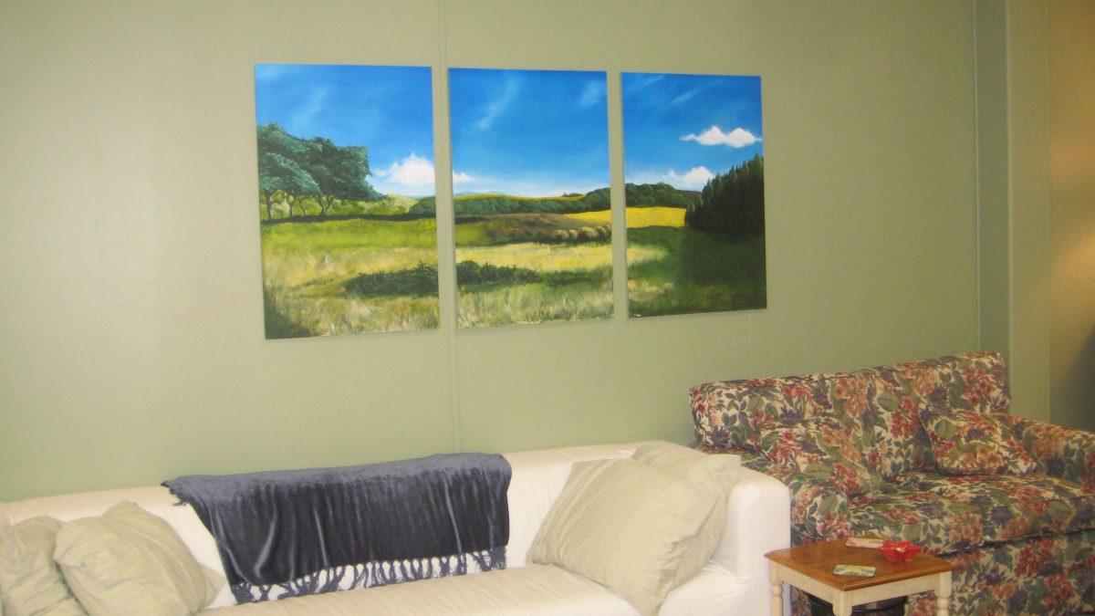'Fields' Triptych