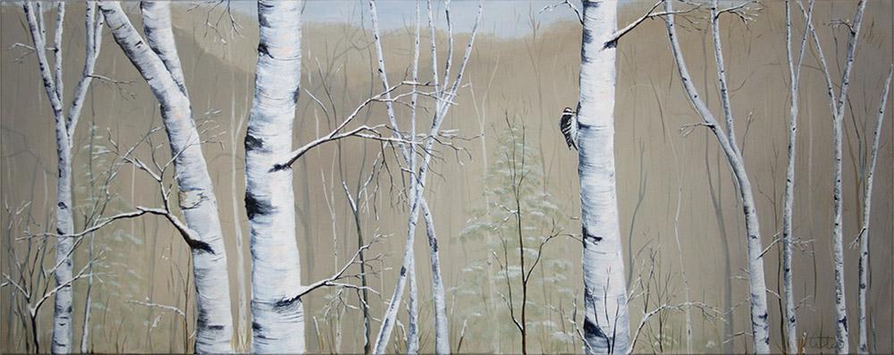 Winter Birch Forest Series