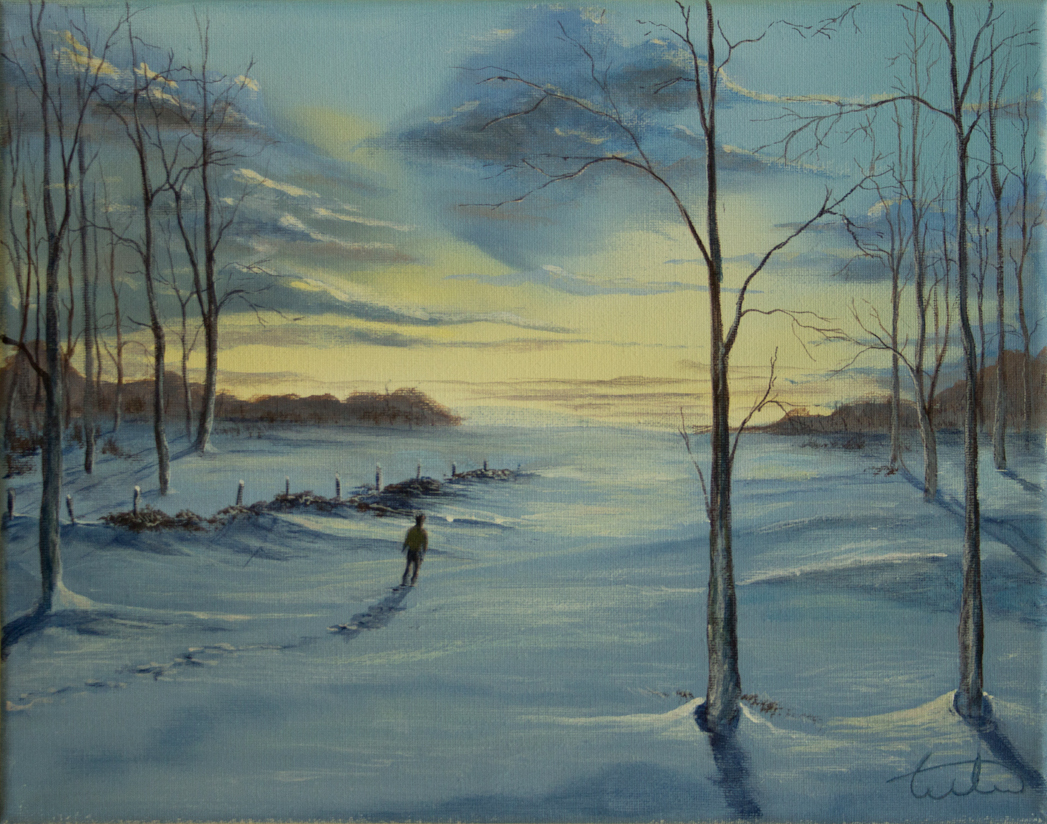 Winter Journey Acrylic Painting