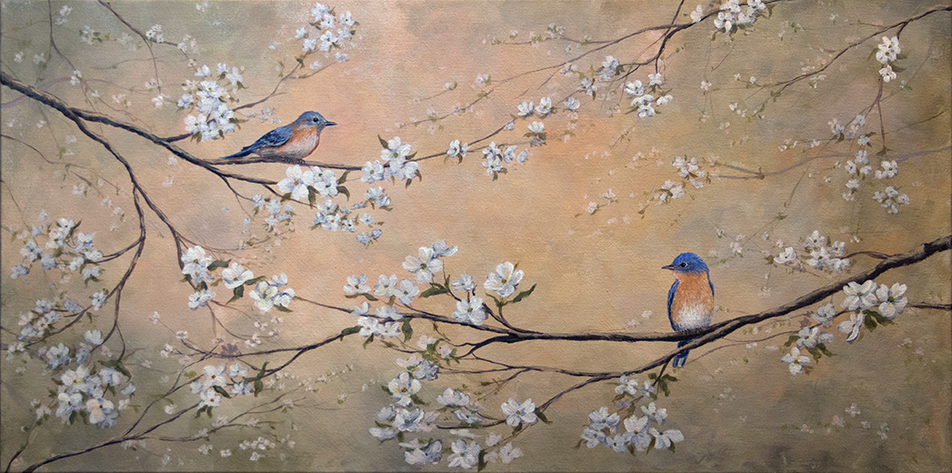 Bluebirds & Dogwood (in 12 steps)