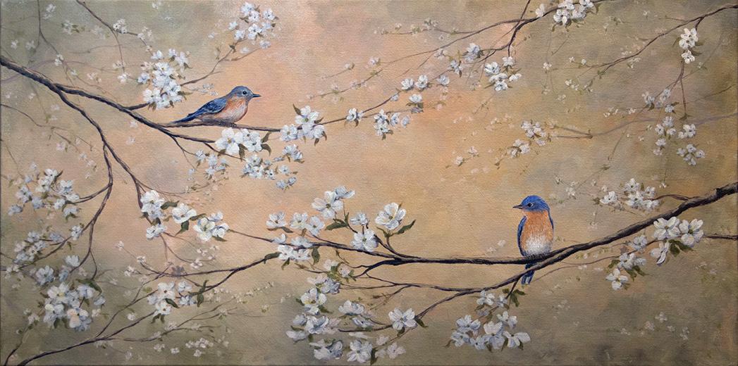 Bluebirds & Dogwood (in 12 steps)